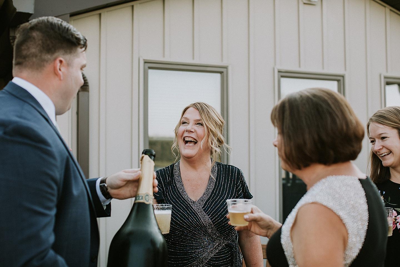 Parents talking at wedding