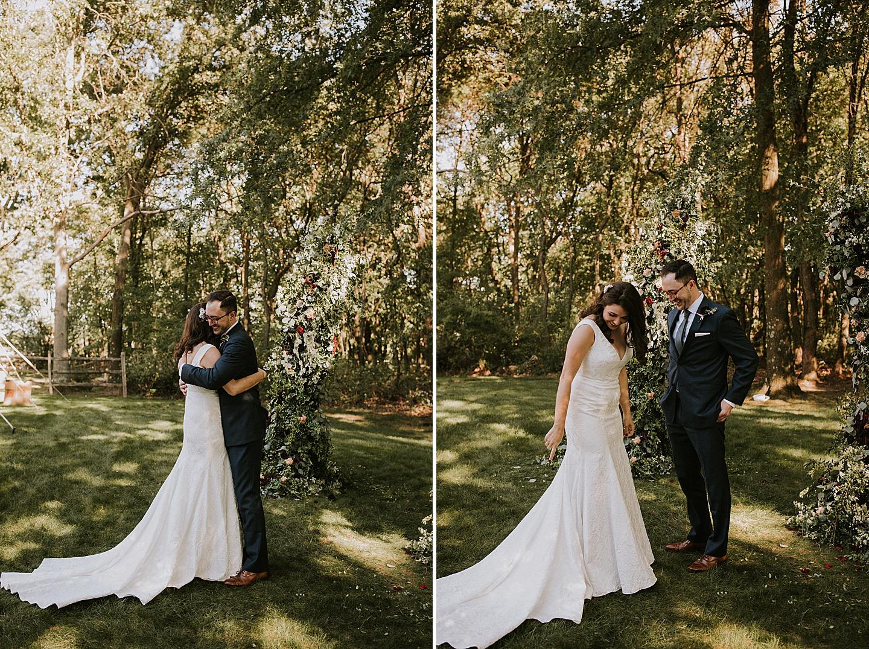 Small Pittsburgh wedding in backyard