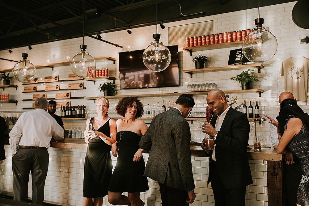 Cinderlands cocktail hour wedding