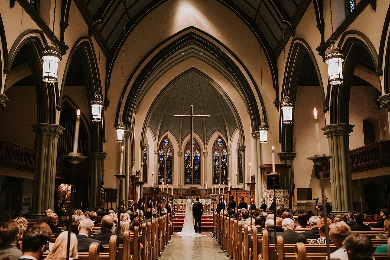 Church wedding in Pittsburgh PA