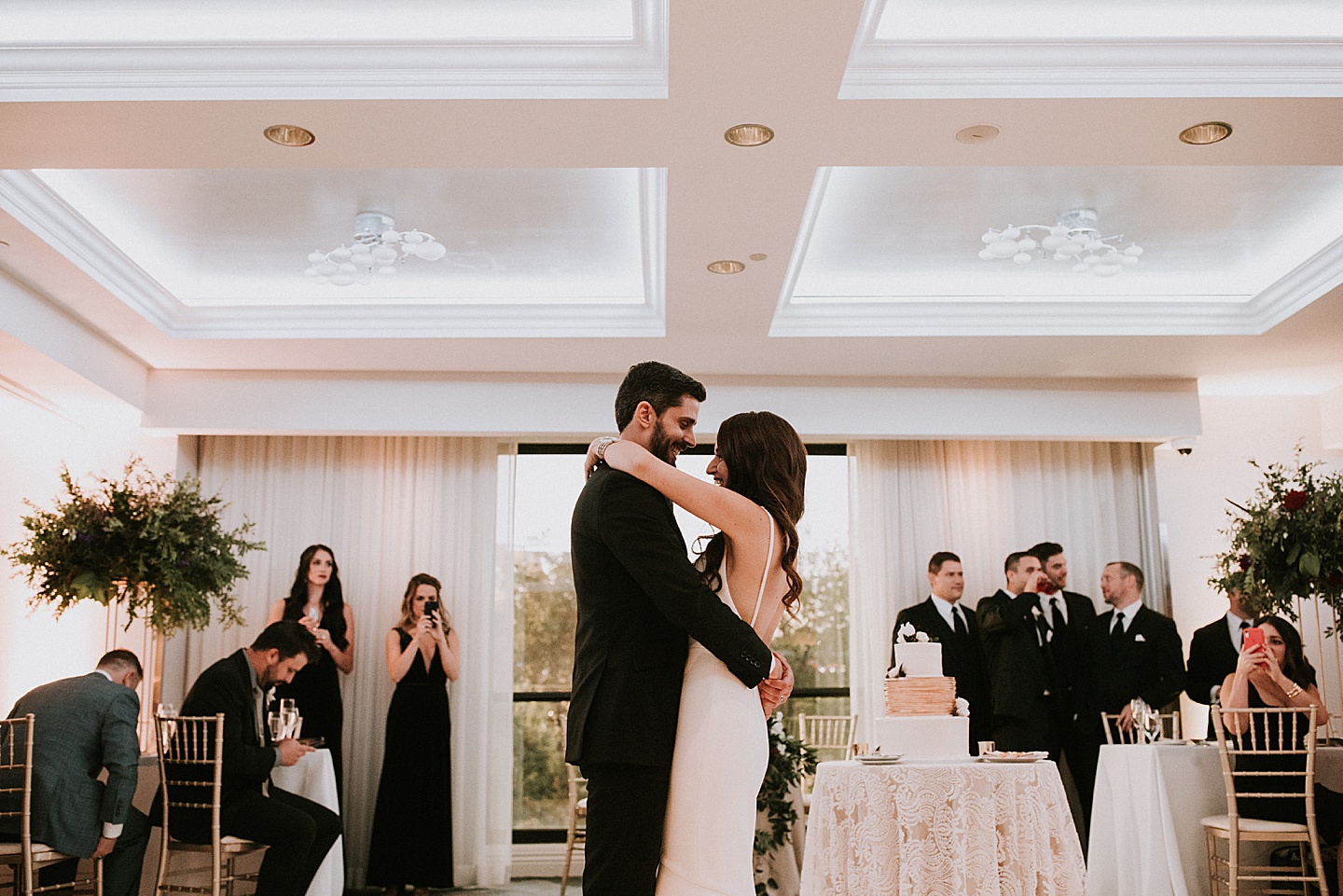 Couple first dance at wedding