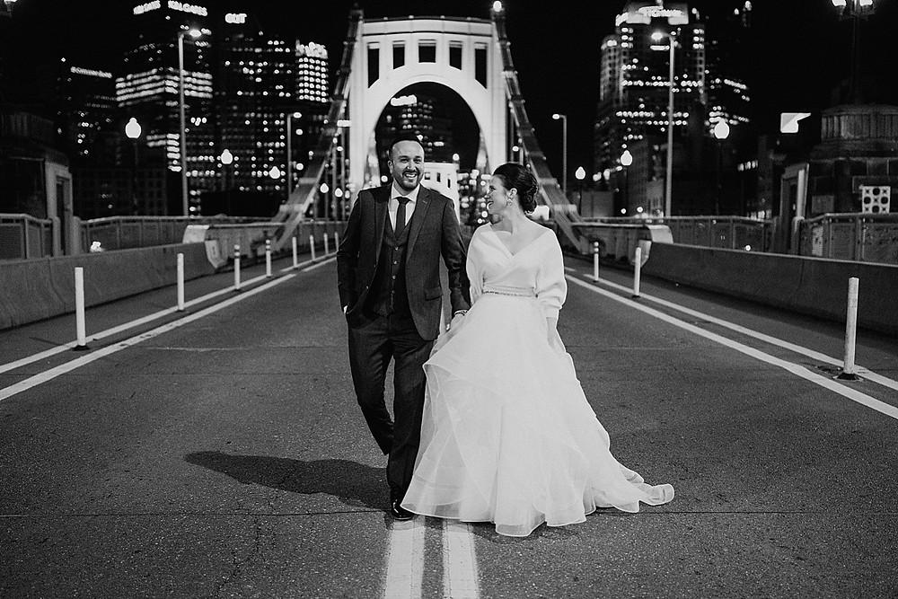 Sixth Street Bridge wedding photos
