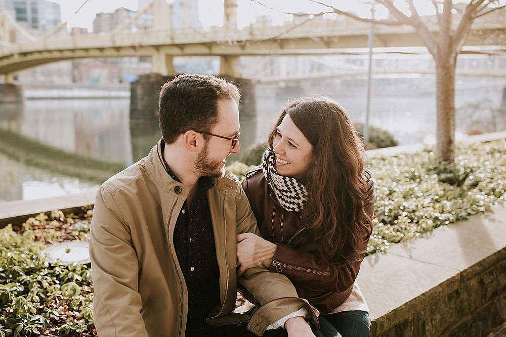 Engagement photographers in Pittsburgh