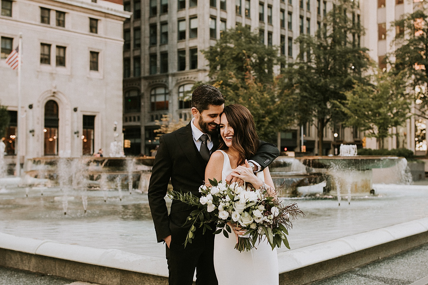 Downtown wedding pictures