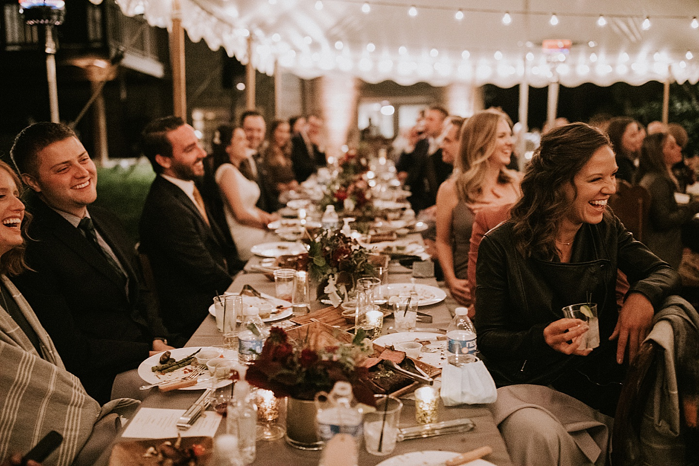 Guests seated at wedding