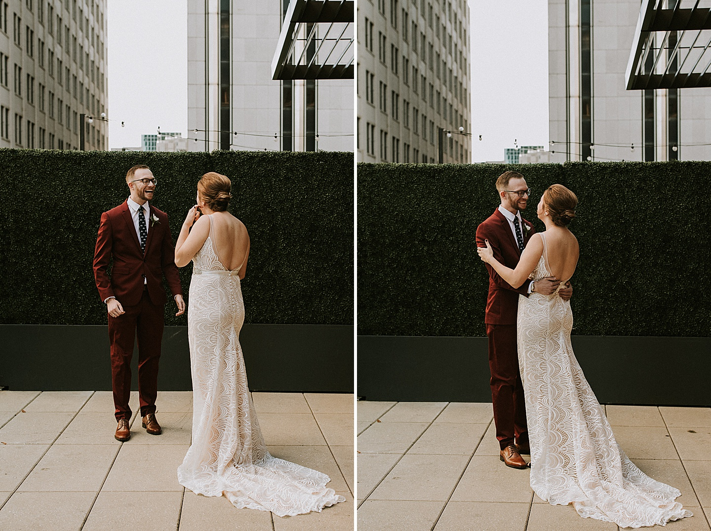 Pittsburgh first look wedding photos