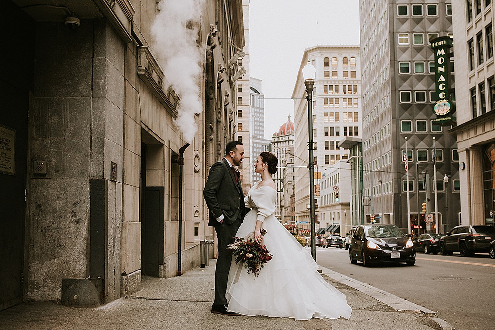 Downtown Pittsburgh PA wedding photographs