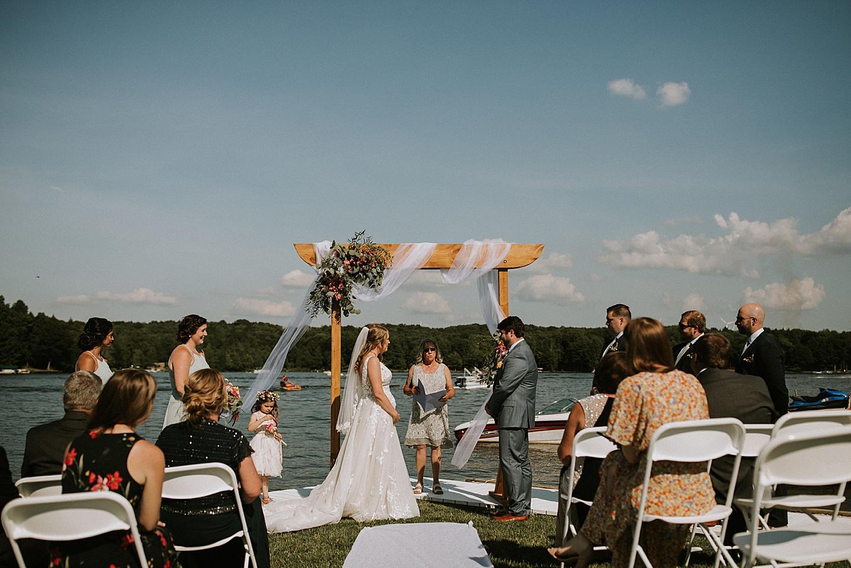 Wedding ceremony at Indian Lake