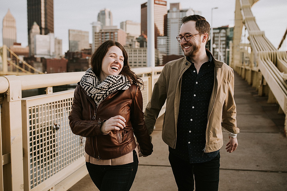 Pittsburgh couple engagement session