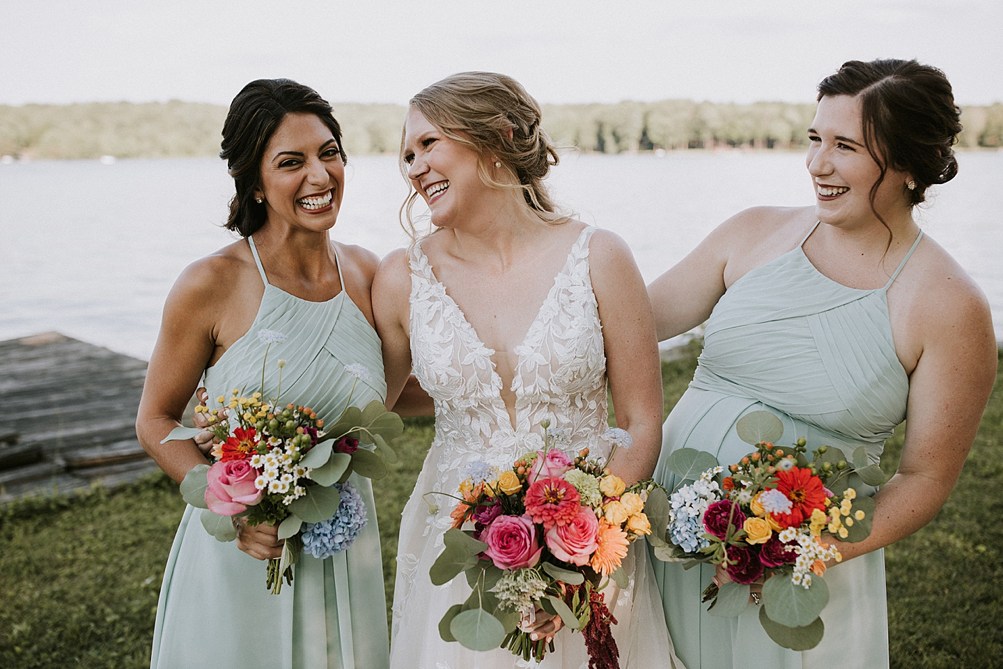 Pictures of bride and her bridesmaids