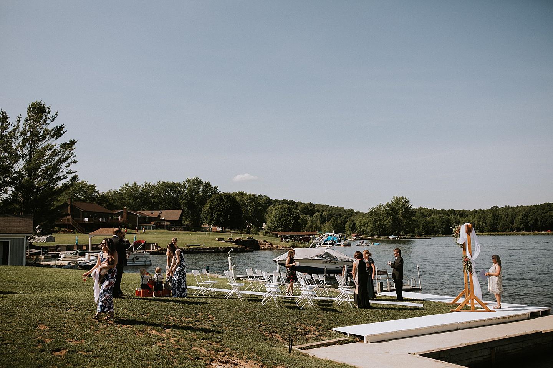 Indian Lake wedding ceremony