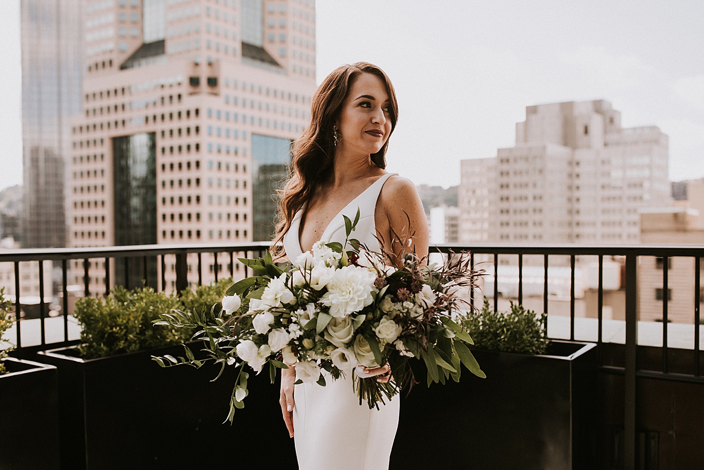 Bridal portraits in Pittsburgh, PA
