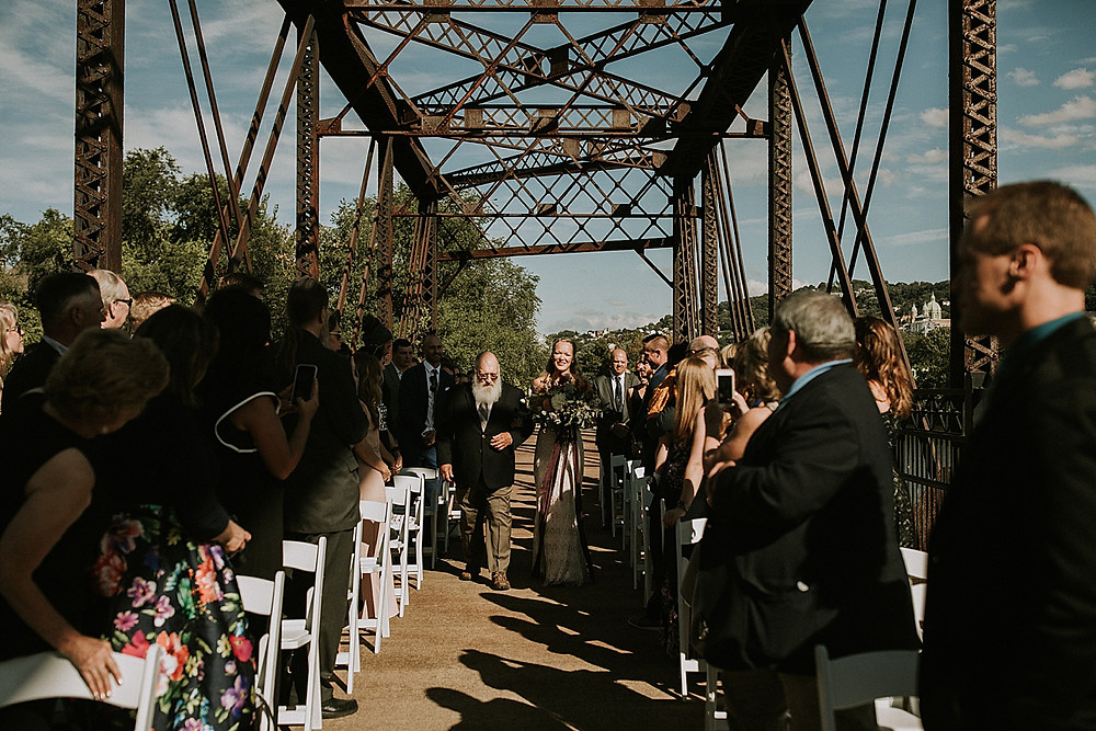Washington's Landing Pittsburgh wedding ceremony