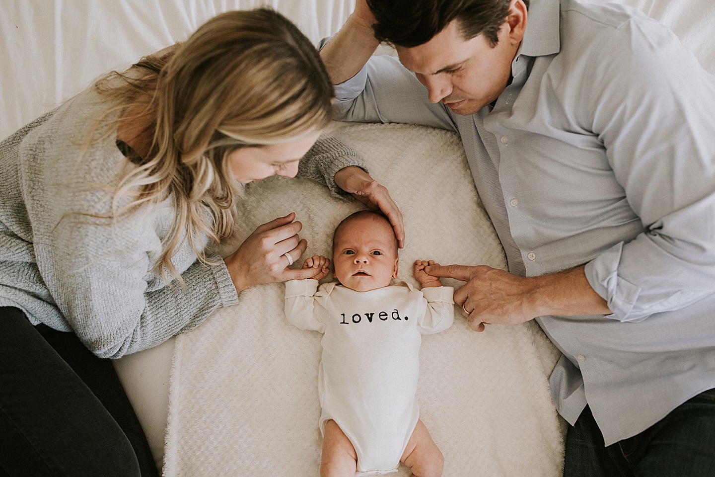 Parents with newborn son