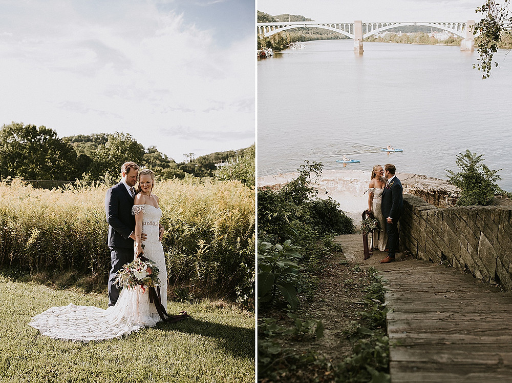 Pittsburgh wedding photos by river
