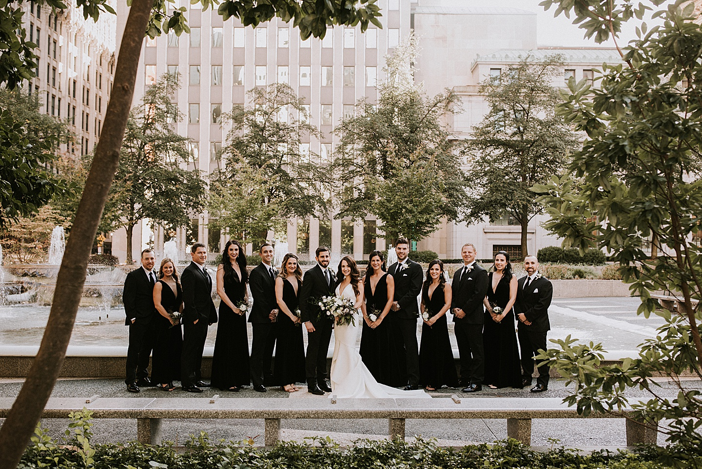 Wedding party portrait in Pittsburgh