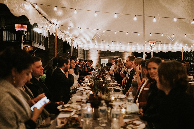 Wedding reception tent layout