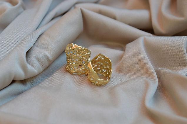 24K gold plating ring handmade goldsmiths by anat eyal