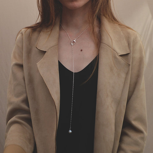 Plumeria Long Necklace