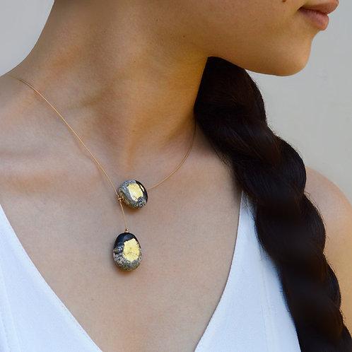 Asymmetric Earth necklace
