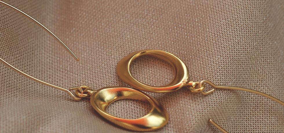 Plumeria Gold Earrings