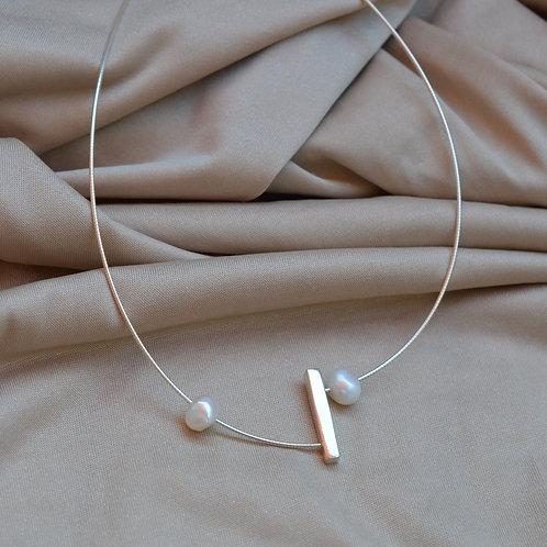 Silver Asymmetrical Necklace