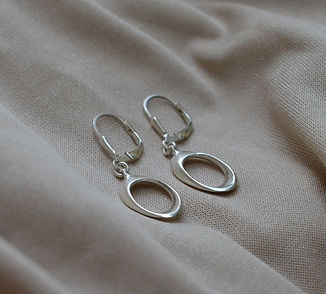 925 Silver Sterling Earrings, Handmade Goldsmiths Jewelry