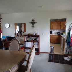 Before of dining and kitchen.