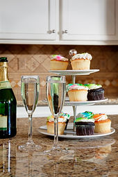 champagne and cupcakes at DreamBuilders Home Remodeling, www.ourdreambuilder.com