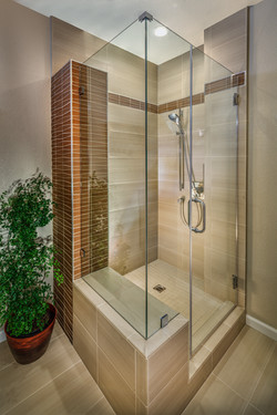 Shower bench and tower