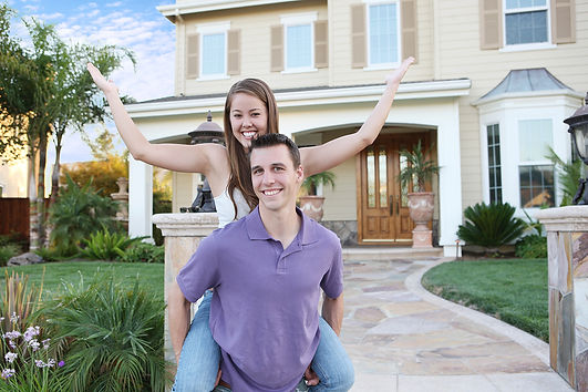 bigstock-Couple-In-Love-In-Front-Of-Hom-