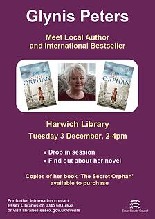2019_12_03_Harwich_Meet the Author Glyni