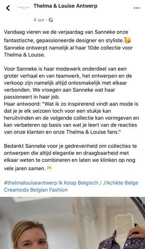 @ Thelma & Louise Antwerp, Facebook & Instagram
