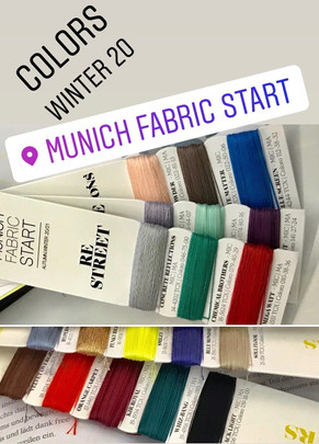 Colors W20/21 from the Munich Fabric Start