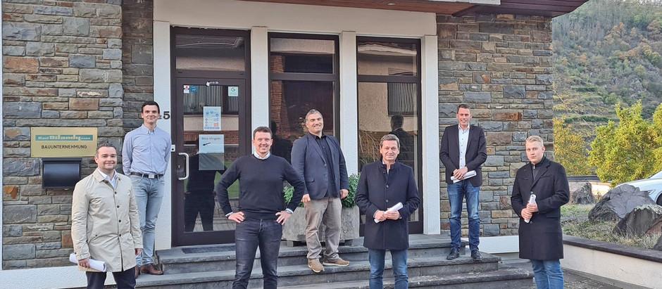 Torsten Welling und Christian Baldauf zu Besuch in Oberfell bei der Ditandy GmbH