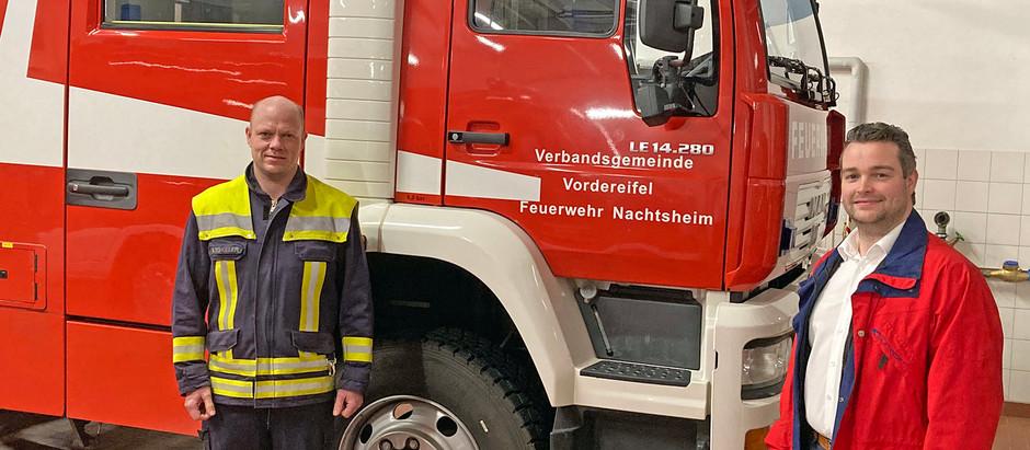 Torsten Welling im Dialog mit den Feuerwehren