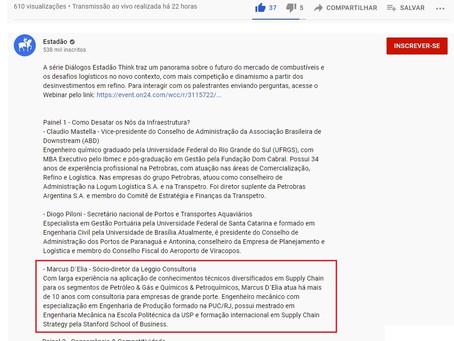 """Marcus D'Elia foi o convidado do Webinar """"Diálogos Estadão Think"""", realizado pelo jornal Estadão"""