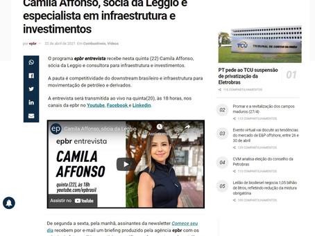 Camila Affonso fala sobre o futuro do setor de infraestrutura no programa epbr Entrevista