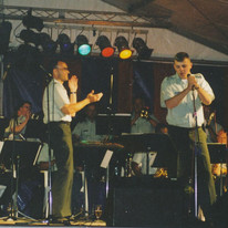 rob and the army band.jpg