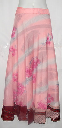 Indian Gypsey Reversible Silk Wrap Skirt