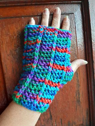 Unisex Handmade Multicolor Fingerless Gloves