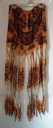 Gorgeous Long Mustard Pixie Skirt