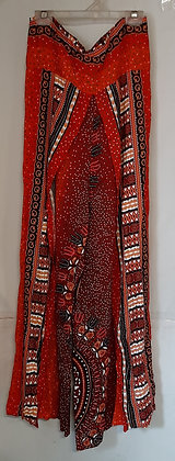 Ladies Thailand Tribal Print Wrap Pants