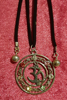 Chakra Om Long Necklace