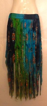 Gorgeous Long Tie dye pixie skirt