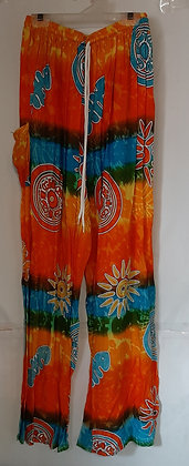 Ladies Thailand Tie Dye Straight Leg Pants