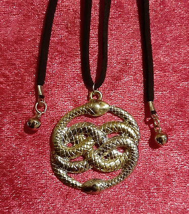 Double Snake Long Necklace