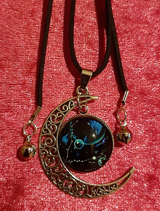 Pisces Moon Long Necklace