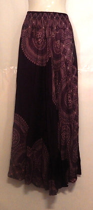 Thai Long Purple Mandala Skirt