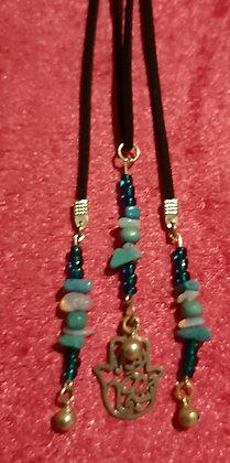 Hamsa Hand Long Necklace